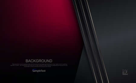 Dark background in burgundy and gray shades with a gradient, gray curtains with a thin shiny edging 免版税图像 - 161895191