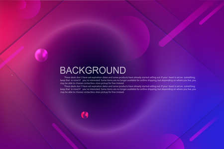 Geometric design with a gradient of blue and purple colors, oblique stripes and circles