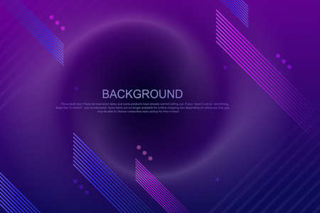 Geometric design with a gradient of blue and purple colors, thin oblique stripes 矢量图像