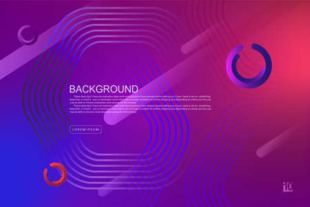 Blue and purple gradient design, polygonal abstract frame, stripes and rings 免版税图像 - 162100853