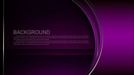 Dark background with a gradient of purple, oval curtain with light border 矢量图像