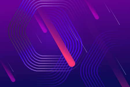 Geometric design with a gradient of blue and purple colors, polygonal frames, oblique stripes 矢量图像