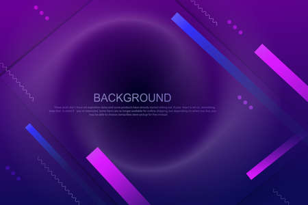 Geometric design with a gradient of blue and purple colors, oblique stripes, wavy lines