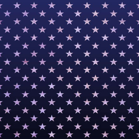 Texture illustration with blue color gradient, set of stars, design element.