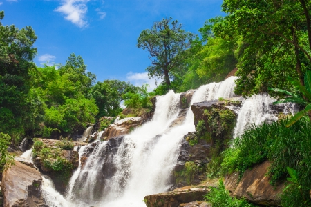 Mae Klang waterfall, Doi Inthanon national park, Chiang Mai, Thailand photo