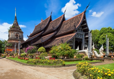 buddhist temple roof: Beautiful temple in Chiang Mai. Thailand.