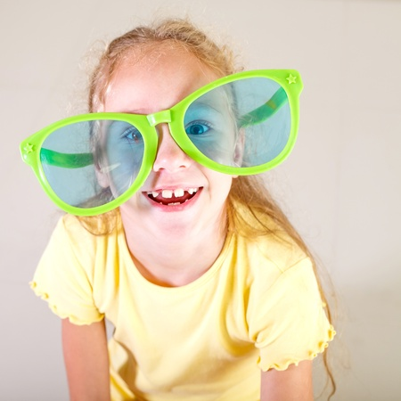 portrait of a little girl in big sunglasses Stock Photo - 16847556