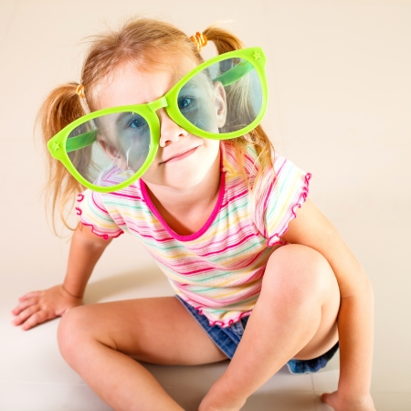 portrait of a little girl in big sunglasses Stock Photo - 16847508