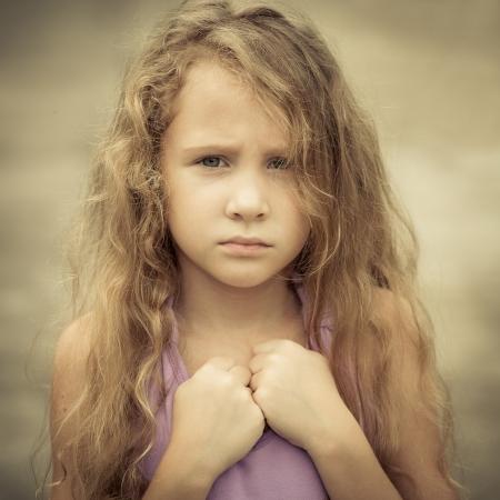 child sad: Portrait of sad child
