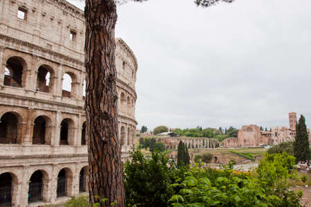 Italy. Travel to Italy, Rome. Coliseum amphitheater in Roma, Italy. Great vacation Rome, coliseum. I love Italy. The wonder of it all. Majesty of the world Stock Photo - 104496038