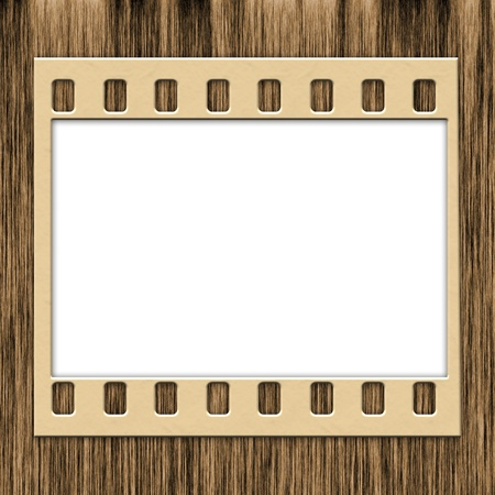 bank records: Blank Film Frame Stock Photo
