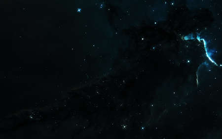 Nebula, star clusters. Deep  landscape. Science fiction art. Image in 5K for desktop wallpaper. Reklamní fotografie