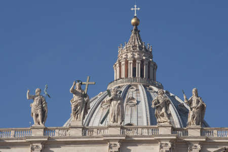 st peter s basilica: View of the dome of St  Peter