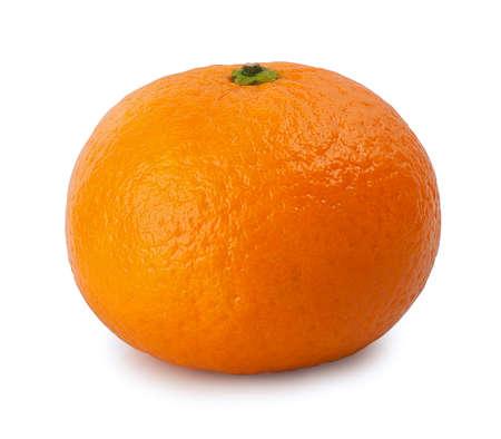 mandarine: shiny ripe mandarine isolate on  white background