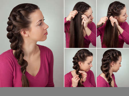 simple braid hairstyle tutorial.Easy hairstyle for long hair