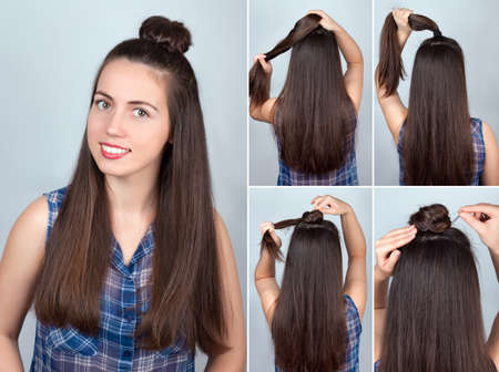 Einfache Verdrillte Frisur Herz Mit Scrunchy Tutorial Frisur Fur