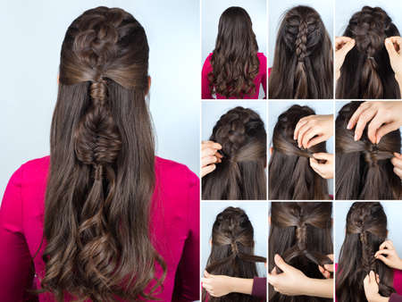 Peinado Sencillo Tutorial Torcido Trenza Facil Corte De Pelo Para