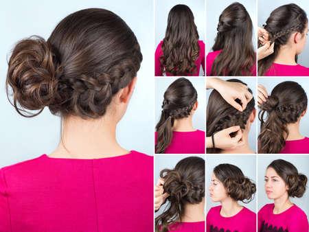 Sencillo Tutorial Peinado De Trenza Peinado De Trenza De Pelo Largo