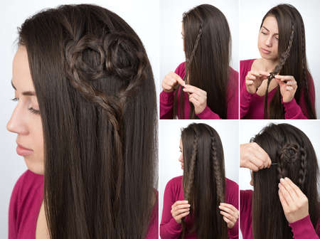 hairstyle braided heart tutorial