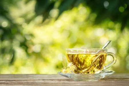 linden tea: linden tea on table