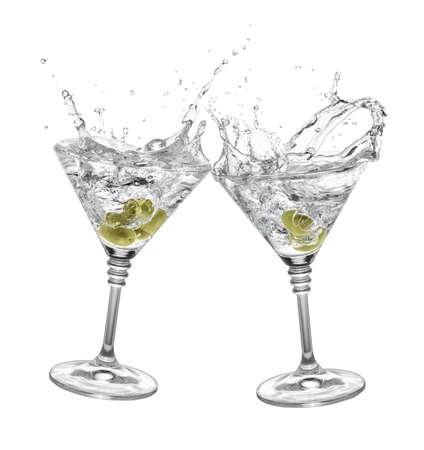 martini isolated on white