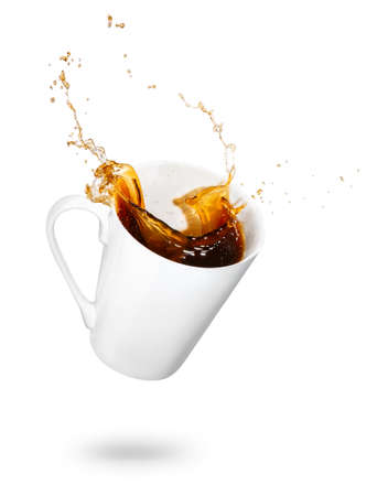 Mug of spilling coffee