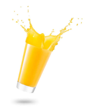 glass of spilling juice