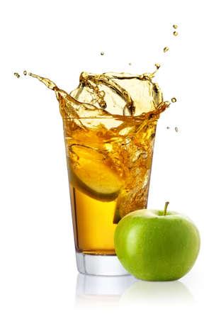 verre de jus de pommes de pomme