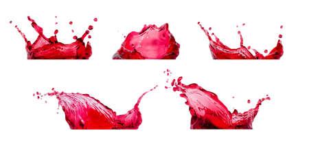 rote Spritzer Sammlung Standard-Bild