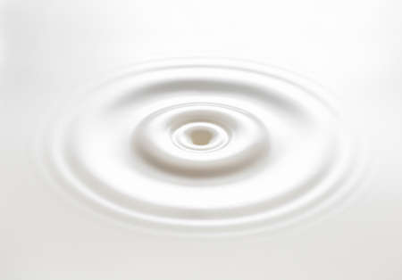 white liquid with circle ripple Stock Photo