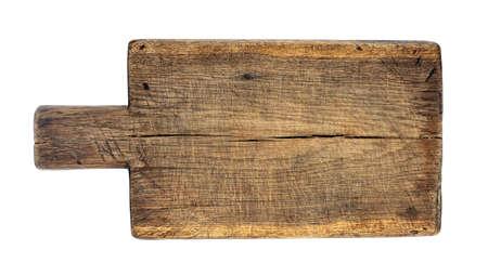 tagliere di legno isolato su bianco