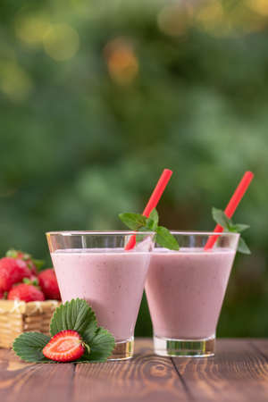 milkshake in glasses Stockfoto