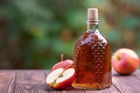 cidre ou vinaigre de pomme Banque d'images
