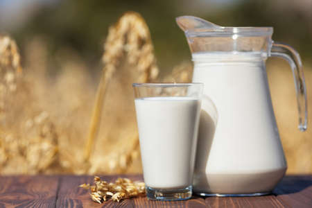 vegan oat milk Stock Photo