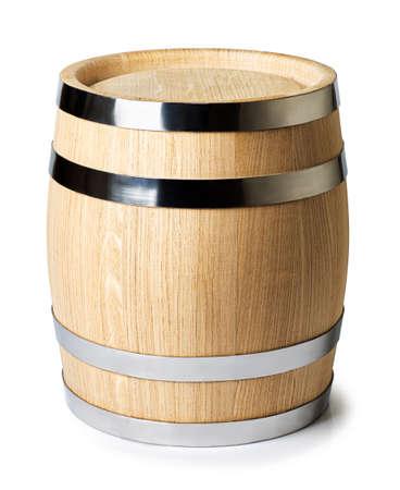 beczka na wino na białym tle