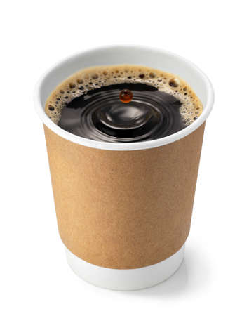 disposable cup with coffee