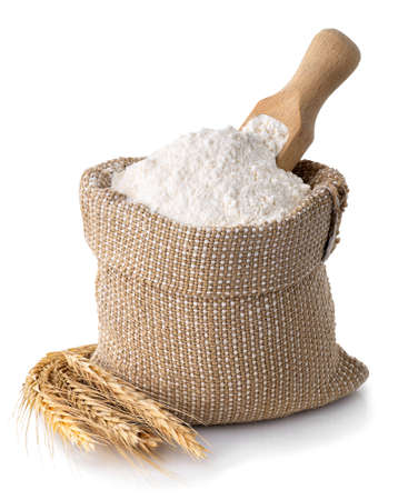 wheat flour in sack