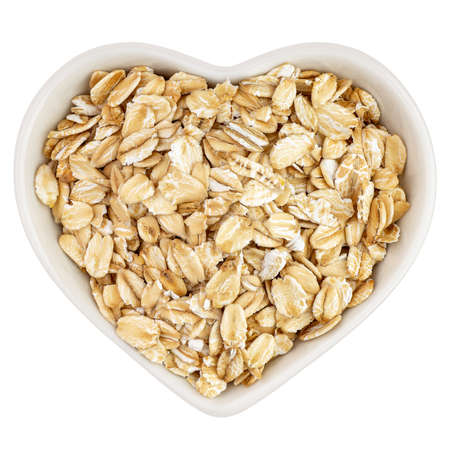 oatmeal in heart shaped plate