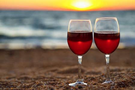 two glasses of wine Zdjęcie Seryjne