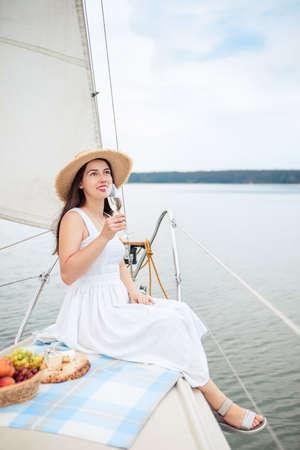 woman with glass of champagne Zdjęcie Seryjne