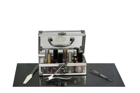 manicure set for processing and painting nails photo