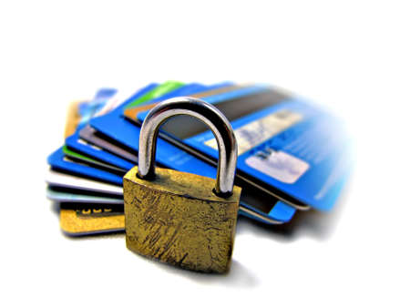 Credit card security safety - pin and password           photo