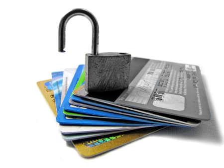 unlocked: Unlocked and unsafe pin - identity theft            Stock Photo