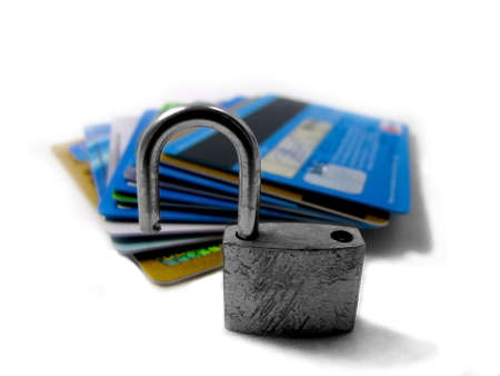 Unlocked and unsafe pin - identity theft                   Stock Photo - 17571190
