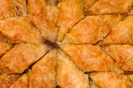 filo pastry: Homemade baklava - Turkish filo sweet pastry Stock Photo