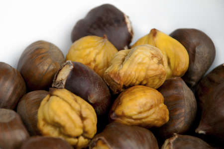Chestnuts - roasted and peeled photo