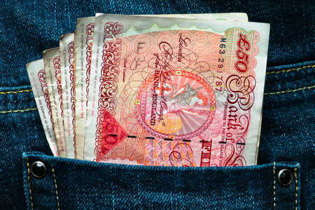 Fifty pounds in a pocket - Rich and lucky