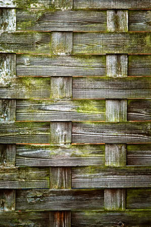 Woven Wood texture, with weathered look, old, crossed