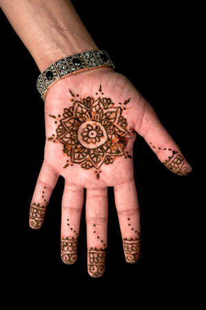 Henna - Mehendi tattoo - body art 01 photo