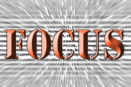 zoomed: Focus - Chisel text Effect - zoom blur
